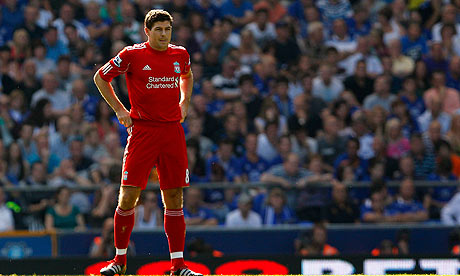 Steven Gerrard has made three apperances in six months for Liverpool