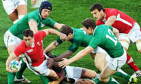 Shane Williams is tackled
