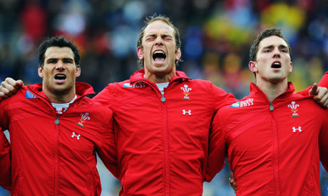 Mike Phillips, Alun Wyn Jones and George North