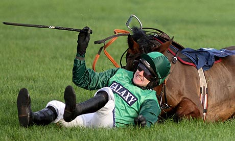 Ruby Walshs bruising encounters continue with two falls at Navan