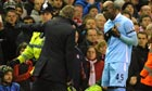 Roberto Mancini and Mario Balotelli argue
