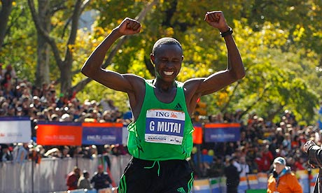 Kenyan runner : Geoffrey Mutai won NYC Marathon