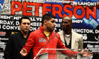 Amir Khan speaks at the post-fight press conference
