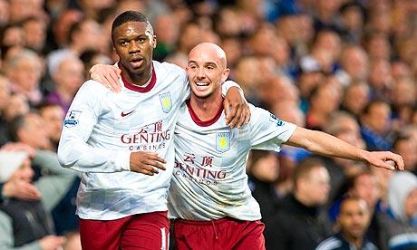 Stephen Ireland celebrates after scoring against Chelsea