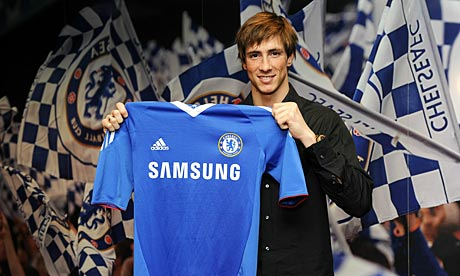 New Chelsea signing Ferna 007 Fernando Torres for £50m to Chelsea. And they say January is the dullest month... Carroll can be described as a punt   Paul Hayward