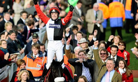 Jockey Ruby Walsh riding Big Bucks