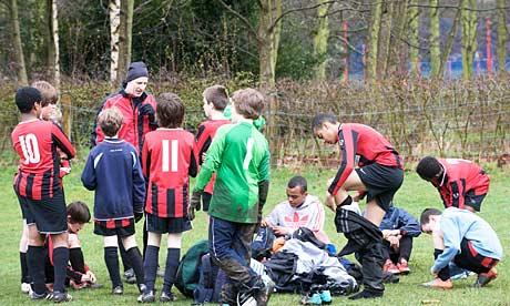 Players at Chorlton Park, Manchester