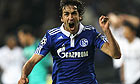 Raúl celebrates scoring for Schalke in the second leg of their Champions League tie with Inter