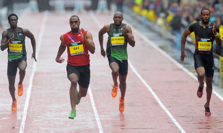 Tyson Gay triumphs over Usain Bolt in 100m but plays