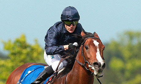 Recital and Kieren Fallon winning the Derrinstown Stud Derby Trial Stakes at Leopardstown