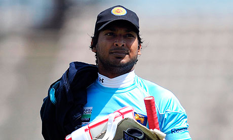 Kumar Sangakkara during a Sri Lanka nets session at the Rose Bowl