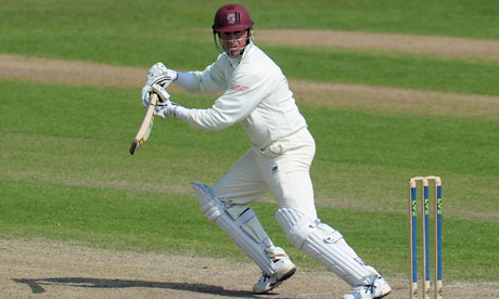 Marcus Trescothick of Somerset scored another half century but his side are on the brink of defeat