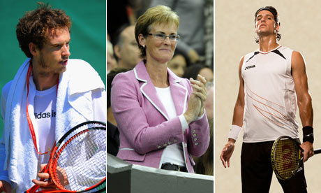 Andy Murray, Judy Murray and Feliciano Lopez