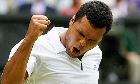 France's Jo-Wilfried Tsonga celebrates