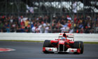 Fernando Alonso of Spain and Ferrari clinched his first win of the season in the British Grand Prix