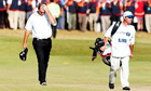 Thomas Bjorn scratches his head during an outstanding Open display at Royal St George's