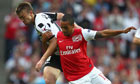 Arsenal's Theo Walcott in action against Udinese