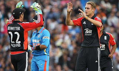 Stuart Broad praises England after Twenty20 win over India