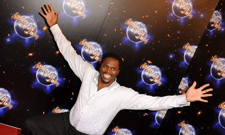 Audley Harrison takes part in Strictly Come Dancing.