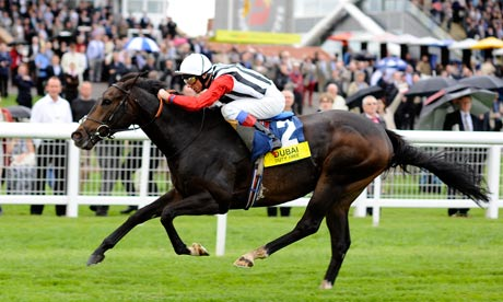 Frankie Dettori rides Deacon Blues to victory at Newbury