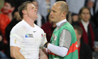 England's Chris Ashton feels the pain of his arm injury