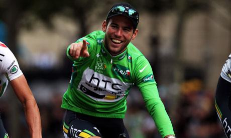 Mark Cavendish  on his bike