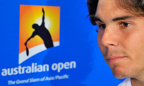 Rafael Nadal of Spain attends a news conference before the Australian Open in Melbourne