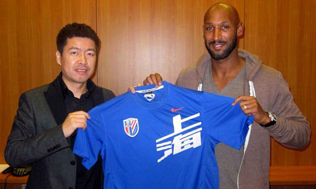shanghai shenhua's nicolas anelka