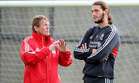 Kenny Dalglish, left, denies Liverpool have any desire to sell Andy Carroll