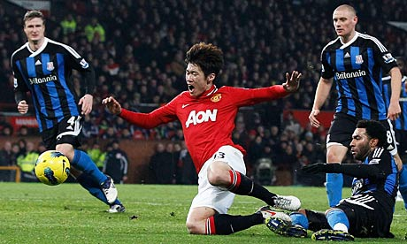 Park Ji-Sung of Manchester United