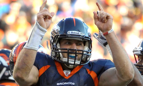 Denver Broncos quarterback Tebow