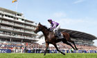 Camelot, ridden by Joseph O'Brien, finishes first at this year's Derby at Epsom