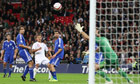 Alex Oxlade-Chamberlain scores England's fifth goal against San Marino