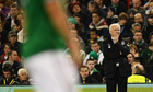 Giovanni Trapattoni of Ireland watches the game against Germany
