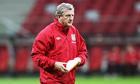 The England manager, Roy Hodgson