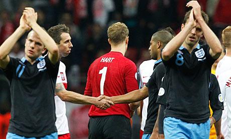 England players applaud