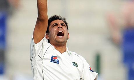 The Pakistan spinner Abdur Rehman