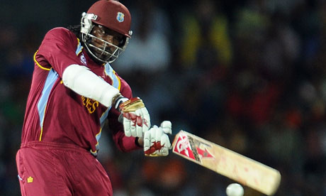 Chris Gayle in action against Australia