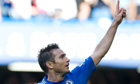 Chelsea's Frank Lampard celebrates after scoring against Norwich City