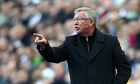 Manchester United's Sir Alex Ferguson at the match against Newcastle United