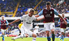 Ciaran Clark, right, challenges Gylfi Sigurdsson during Aston Villa's 2-0 defeat to Tottenham