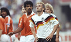 Rudi Voller and Frank Rijkaard at the 1990 World Cup