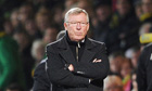 Sir Alex Ferguson watches United lose at Norwich