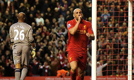 Liverpool's José Enrique has gone from out-of-favour full-back to attacking midfielder