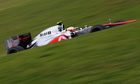 Lewis Hamilton of McLaren en route to pole position at the Brazilian F1 Grand Prix at Interlagos