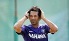 The India batsman Sachin Tendulkar