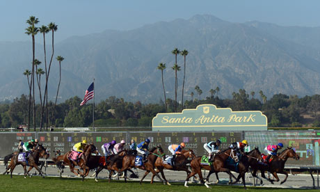 Action from the 2012 Breeders' Cup at Santa Anita