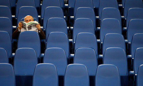 A lone Lazio fan