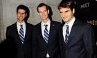 Novak Djokovic, Andy Murray and Roger Federer