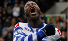 Djibril Cissé celebrates his goal for QPR v Reading